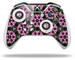 Floral Pattern Pink - Decal Style Skin fits Microsoft XBOX One X and One S Wireless Controller