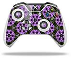 Floral Pattern Purple - Decal Style Skin fits Microsoft XBOX One X and One S Wireless Controller