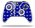 Paper Planes Royal Blue - Decal Style Skin fits Microsoft XBOX One X and One S Wireless Controller