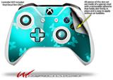 Bokeh Butterflies Neon Teal - Decal Style Skin fits Microsoft XBOX One X and One S Wireless Controller