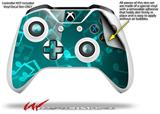 Bokeh Music Neon Teal - Decal Style Skin fits Microsoft XBOX One X and One S Wireless Controller