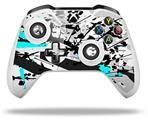 Baja 0018 Neon Teal - Decal Style Skin fits Microsoft XBOX One X and One S Wireless Controller