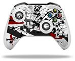 Baja 0018 Red Dark - Decal Style Skin fits Microsoft XBOX One X and One S Wireless Controller