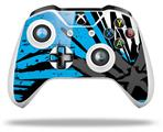 Baja 0040 Blue Medium - Decal Style Skin fits Microsoft XBOX One X and One S Wireless Controller