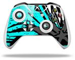Baja 0040 Neon Teal - Decal Style Skin fits Microsoft XBOX One X and One S Wireless Controller