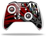 Baja 0040 Red Dark - Decal Style Skin fits Microsoft XBOX One X and One S Wireless Controller