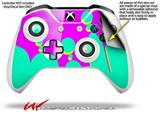 Drip Teal Pink Yellow - Decal Style Skin fits Microsoft XBOX One X and One S Wireless Controller