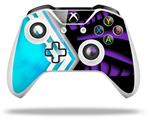 Black Waves Neon Teal Purple - Decal Style Skin fits Microsoft XBOX One X and One S Wireless Controller