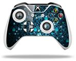 Blue Flower Bomb Starry Night - Decal Style Skin fits Microsoft XBOX One X and One S Wireless Controller