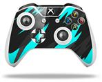 Jagged Camo Neon Teal - Decal Style Skin fits Microsoft XBOX One X and One S Wireless Controller
