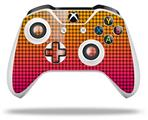 Faded Dots Hot Pink Orange - Decal Style Skin fits Microsoft XBOX One X and One S Wireless Controller