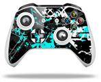 Baja 0003 Neon Teal - Decal Style Skin fits Microsoft XBOX One X and One S Wireless Controller
