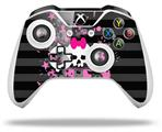 Pink Bow Skull - Decal Style Skin fits Microsoft XBOX One X and One S Wireless Controller