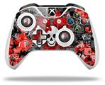 Emo Skull Bones - Decal Style Skin fits Microsoft XBOX One X and One S Wireless Controller