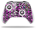 Zebra Pink Skulls - Decal Style Skin fits Microsoft XBOX One X and One S Wireless Controller
