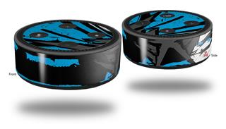 Skin Wrap Decal Set 2 Pack for Amazon Echo Dot 2 - Baja 0040 Blue Medium (2nd Generation ONLY - Echo NOT INCLUDED)