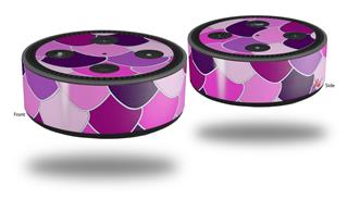 Skin Wrap Decal Set 2 Pack for Amazon Echo Dot 2 - Scales Pink Purple (2nd Generation ONLY - Echo NOT INCLUDED)
