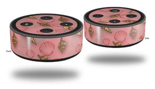 Skin Wrap Decal Set 2 Pack for Amazon Echo Dot 2 - Sea Shells 02 Pink (2nd Generation ONLY - Echo NOT INCLUDED)