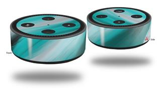 Skin Wrap Decal Set 2 Pack for Amazon Echo Dot 2 - Paint Blend Teal (2nd Generation ONLY - Echo NOT INCLUDED)
