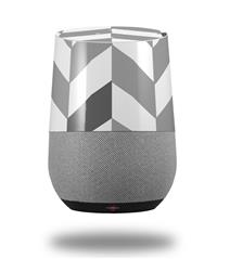 Decal Style Skin Wrap for Google Home Original - Chevrons Gray And Charcoal (GOOGLE HOME NOT INCLUDED) by WraptorSkinz
