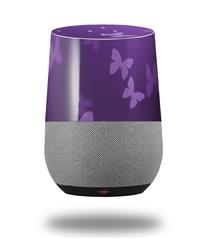 Decal Style Skin Wrap for Google Home Original - Bokeh Butterflies Purple (GOOGLE HOME NOT INCLUDED) by WraptorSkinz