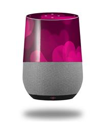 Decal Style Skin Wrap for Google Home Original - Bokeh Hearts Hot Pink (GOOGLE HOME NOT INCLUDED)