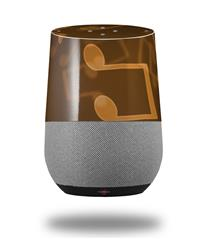 Decal Style Skin Wrap for Google Home Original - Bokeh Music Orange (GOOGLE HOME NOT INCLUDED) by WraptorSkinz