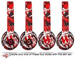 WraptorSkinz Skin Decal Wrap for Beats Solo 2 and Solo 3 Wireless headphones Red Graffiti (BEATS NOT INCLUDED)