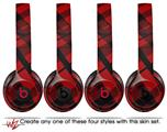 Skin Decal Wrap for Beats Solo 2 and Solo 3 Wireless Headphones Red Plaid (BEATS NOT INCLUDED)