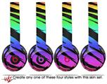 WraptorSkinz Skin Decal Wrap for Beats Solo 2 and Solo 3 Wireless headphones Tiger Rainbow (BEATS NOT INCLUDED)