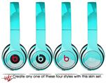 WraptorSkinz Skin Decal Wrap for Beats Solo 2 and Solo 3 Wireless headphones Bokeh Hex Neon Teal (BEATS NOT INCLUDED)
