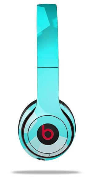 Beats Solo2 - Solo3 Wireless skins Bokeh Hex Neon Teal | uSkins
