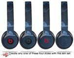 Skin Decal Wrap for Beats Solo 2 and Solo 3 Wireless Headphones Bokeh Music Blue (BEATS NOT INCLUDED)