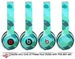 Skin Decal Wrap for Beats Solo 2 and Solo 3 Wireless Headphones Scales Blue Green (BEATS NOT INCLUDED)