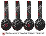 Skin Decal Wrap for Beats Solo 2 and Solo 3 Wireless Headphones Baja 0023 Red (BEATS NOT INCLUDED)