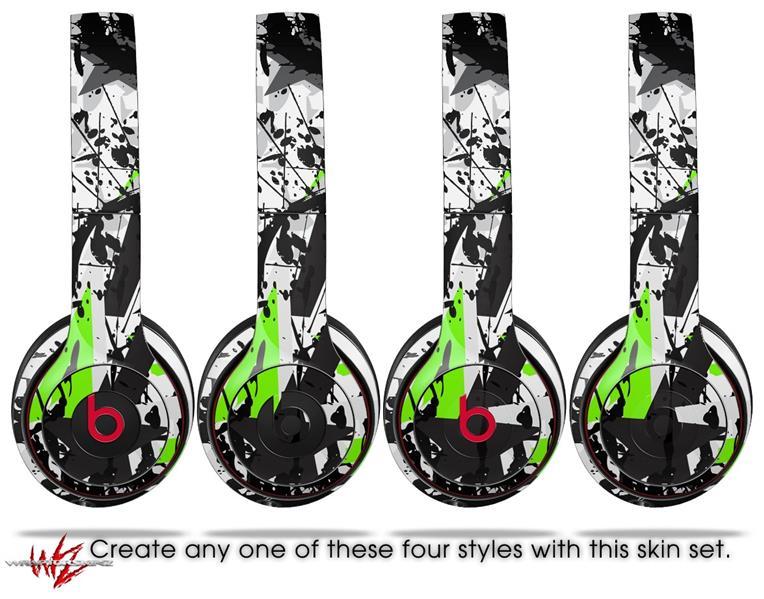 Beats Solo2 Solo3 Wireless Skins Baja 0018 Lime Green Uskins
