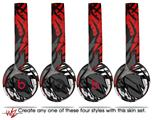 Skin Decal Wrap for Beats Solo 2 and Solo 3 Wireless Headphones Baja 0040 Red (BEATS NOT INCLUDED)