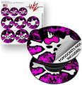 Decal Style Vinyl Skin Wrap 3 Pack for PopSockets Punk Skull Princess (POPSOCKET NOT INCLUDED)