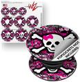 Decal Style Vinyl Skin Wrap 3 Pack for PopSockets Splatter Girly Skull (POPSOCKET NOT INCLUDED)