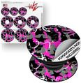 Decal Style Vinyl Skin Wrap 3 Pack for PopSockets SceneKid Pink (POPSOCKET NOT INCLUDED)