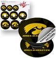 Decal Style Vinyl Skin Wrap 3 Pack for PopSockets Iowa Hawkeyes Herkey Gold on Black (POPSOCKET NOT INCLUDED)