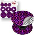 Decal Style Vinyl Skin Wrap 3 Pack for PopSockets Pink Floral (POPSOCKET NOT INCLUDED)