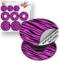 Decal Style Vinyl Skin Wrap 3 Pack for PopSockets Pink Tiger (POPSOCKET NOT INCLUDED)