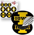 Decal Style Vinyl Skin Wrap 3 Pack for PopSockets Iowa Hawkeyes 04 Gold on Black (POPSOCKET NOT INCLUDED)
