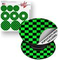 Decal Style Vinyl Skin Wrap 3 Pack for PopSockets Checkers Green (POPSOCKET NOT INCLUDED)