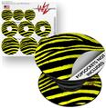 Decal Style Vinyl Skin Wrap 3 Pack for PopSockets Zebra Yellow (POPSOCKET NOT INCLUDED)