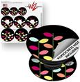 Decal Style Vinyl Skin Wrap 3 Pack for PopSockets Plain Leaves On Black (POPSOCKET NOT INCLUDED)