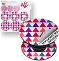 Decal Style Vinyl Skin Wrap 3 Pack for PopSockets Triangles Berries (POPSOCKET NOT INCLUDED)