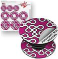 Decal Style Vinyl Skin Wrap 3 Pack for PopSockets Locknodes 03 Hot Pink (Fuchsia) (POPSOCKET NOT INCLUDED)