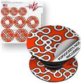 Decal Style Vinyl Skin Wrap 3 Pack for PopSockets Locknodes 03 Red (POPSOCKET NOT INCLUDED)